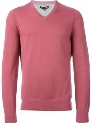 Michael Kors V Neck Jumper Pink And Purple