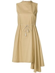 Ter Et Bantine Asymmetric Dress Nude And Neutrals