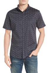7 Diamonds Men's Rising Water Print Woven Shirt