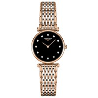 Longines L42091577 'S La Grande Classique Diamond Two Tone Bracelet Strap Watch Rose Gold Silver