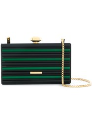 Elie Saab Colour Block Box Clutch Acrylic Brass Black