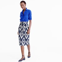 J.Crew Collection Pintucked Midi Skirt In Ikat