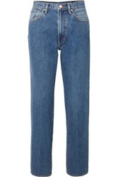 Gold Sign Goldsign The Classic Fit High Rise Straight Leg Jeans Mid Denim