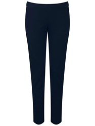 Pure Collection Wallace Stretch Crop Trousers Navy