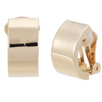 Finesse Crescent Clip On Earrings Gold