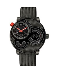 Gv2 47Mm Macchina Del Tempo Men's Chronograph Watch Black