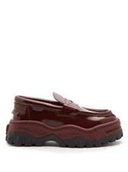Eytys Angelo Leather And Rubber Platform Loafers Burgundy