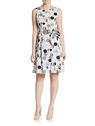 Anne Klein Dot Print Dress Pink Shell