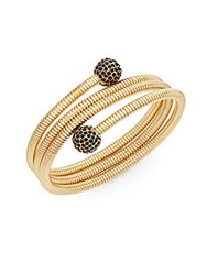Bcbgeneration Pave Ball Spiral Bangle Gold