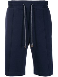 Brunello Cucinelli Panelled Bermuda Shorts Blue