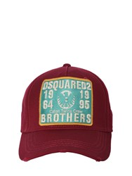 Dsquared Brothers Patch Canvas Baseball Cap