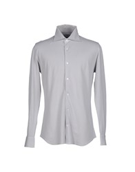 Fedeli Shirts Shirts Men Light Grey