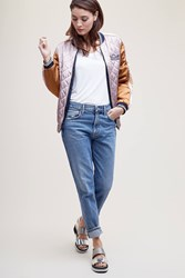 Maison Scotch Reversible Embroidered Bomber Jacket Pink