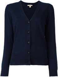 Burberry Buttoned Cardigan Blue