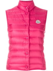 Moncler 'Liane' Padded Gilet Pink And Purple