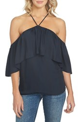 1.State Women's 1. State Halter Neck Ruffle Blouse Rich Black