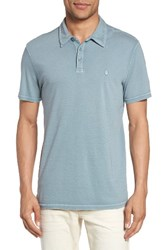 John Varvatos Men's Star Usa Short Sleeve Polo Cornflower Blue