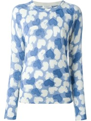 Equipment Heart Print Jumper Blue