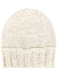 Etoile Isabel Marant Ribbed Trim Beanie Nude Neutrals