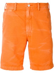 Polo Ralph Lauren Stone Washed Shorts Men Cotton 36 Yellow Orange