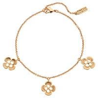 Finesse Swarovski Crystal Flower Bracelet Rose Gold
