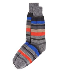 Bloomingdale's The Men's Store At Stripe Merino Wool Blend Socks Light Gray