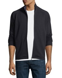 Zegna Sport Techmerino Full Zip Sweater Dark Blue