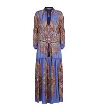 Etro Paisley Seersucker Kaftan Dress Female Multi