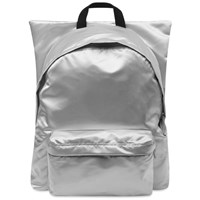 Eastpak X Raf Simons Punk Poster Padded Backpack Silver