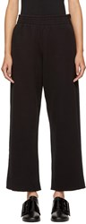 Maison Martin Margiela Mm6 Black Heavy Culotte Lounge Pants