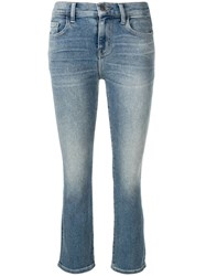 Current Elliott Classic Cropped Jeans Blue