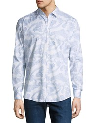 1 Like No Other Wave Line Drawing Sport Shirt White