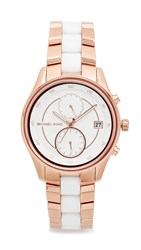Michael Kors Briar Watch Rose Gold White