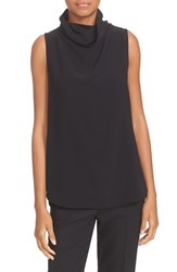 Theory Women's 'Axlie' Button Back Sleeveless Crepe Funnel Neck Top