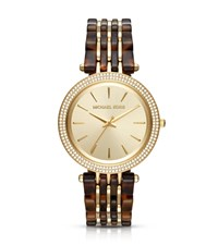 Darci Pave Gold Tone And Acetate Watch