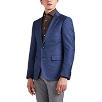 Cifonelli Montecarlo Checked Wool Two Button Sportcoat Blue
