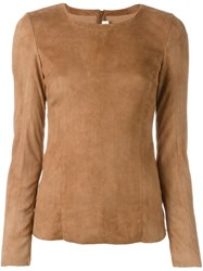 Drome Suede Zipped Top Brown