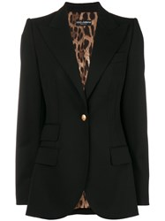 Dolce And Gabbana Classic Fitted Blazer Black