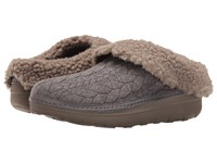 Fitflop Loaff Quilted Slipper Charcoal Women's Slippers Gray