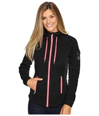 Spyder Ardent Full Zip Hoodie Mid Weight Core Sweater Black Weld Bryte Pink Women's Sweatshirt