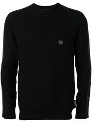 Philipp Plein Logo Fitted Sweater Black