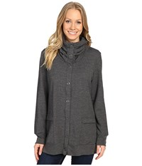 Royal Robbins Tencel Terry Cardi Charcoal Women's Coat Gray