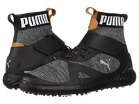 Puma Golf Ignite Power Adapt Hi Top Black Silver Golf Shoes