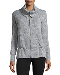 Marc Ny Performance Funnel Neck Dolman Jacket Marled Gray