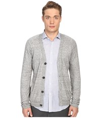 Billy Reid Jersey Roll Cardigan Grey Men's Sweater Gray