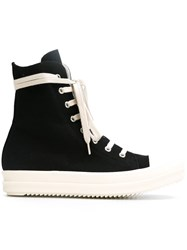 Rick Owens Drkshdw Side Zip Sneakers Black