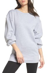 Zella Boxy Oversize Sweatshirt Grey Medium Heather
