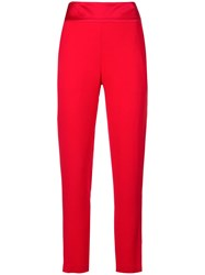Michelle Mason Crepe Suiting Trousers Red