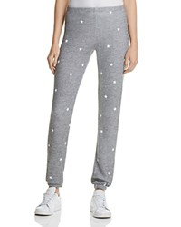 Wildfox Couture Knox Football Star Sweatpants Heather Burnout