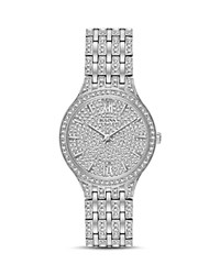 Bulova Crystal Watch 32Mm Silver